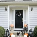 On budget Halloween Outdoor Decorations with fun and scary concept
