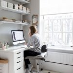 Cozy Home Office Ideas with White Desk Part 2