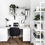 Cozy Home Office Ideas with White Desk Part 9