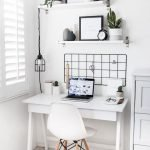 Home Office Designs with White Desk Concept Part 14