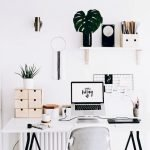 Home Office Designs with White Desk Concept Part 18