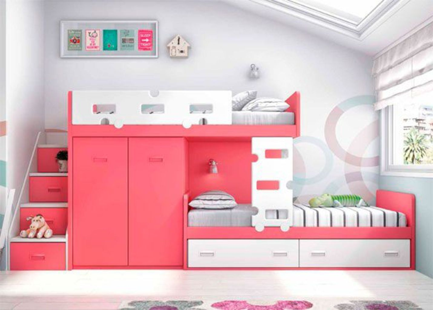 . Delightful Bunk Bed Ideas For Dreamy Girl Rooms   Elonahome com