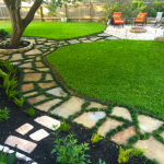 Amazing outdoor and garden paving ideas using flagstones Part 28