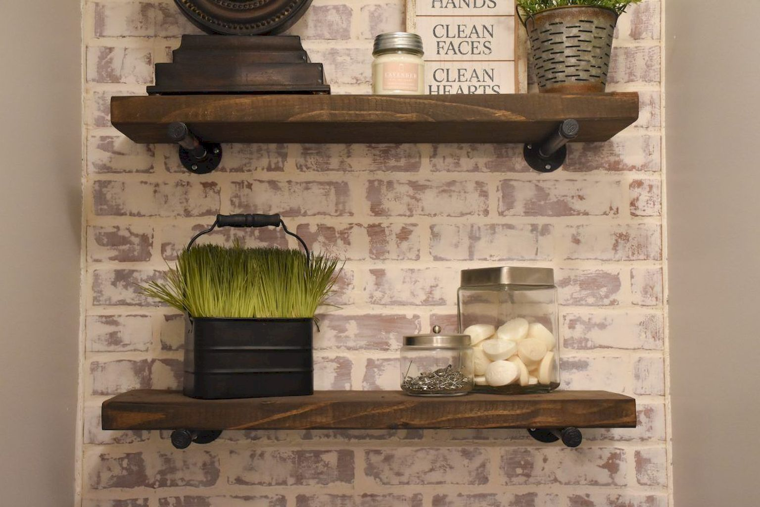35 Diy Bathroom Shelf Ideas From Wood Pallets Elonahome Com