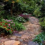 Natural garden walk ways from large stones and flagged stones Part 31