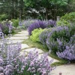 Natural garden walk ways from large stones and flagged stones Part 33