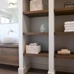 Open shelving and builtin cabinets for lots of extra bathroom storage Part 19