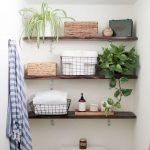 Open shelving and builtin cabinets for lots of extra bathroom storage Part 27