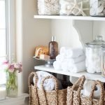 Open shelving at end of a bathtub for more efficient bathroom organization Part 35