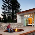 Round firepit design for outdoor living and gathering space ideas Part 21