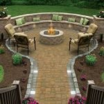 Round firepit design for outdoor living and gathering space ideas Part 22