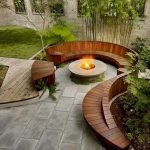 Round firepit design for outdoor living and gathering space ideas Part 3