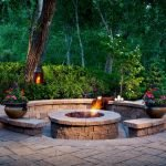 Round firepit design for outdoor living and gathering space ideas Part 8