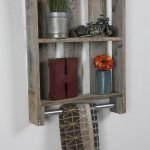 Simple bathroom shelves made from wood pallets Part 20