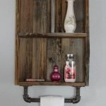 Simple bathroom shelves made from wood pallets Part 21