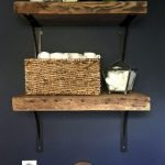 Simple bathroom shelves made from wood pallets Part 24
