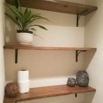 Simple bathroom shelves made from wood pallets Part 28
