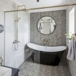 Small standing tubs powerful to make up small bathroom looks Part 8