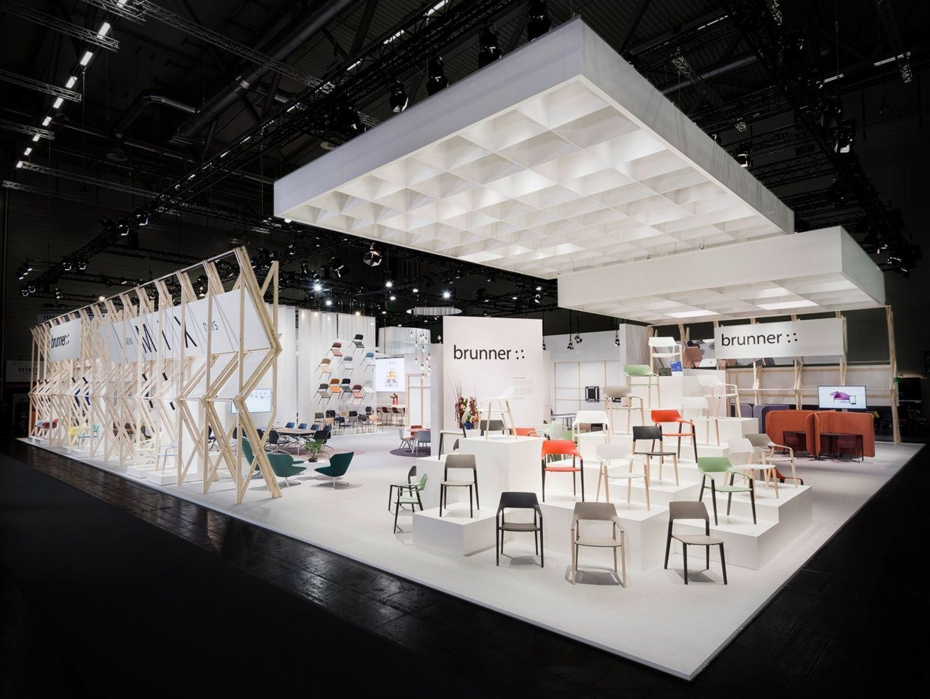 Open style exhibition stand of Brunner in Orgatec 2016 showcasing products in new inviting view and structure arrangement (2)