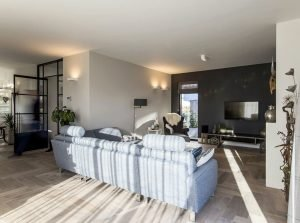 Black white barn house design showing open interior concept with seamless modern home characteristics Out Of The Box (2)