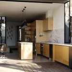 Modern urban house style with cantilever structure for useful backyard terrace Moor House (6)