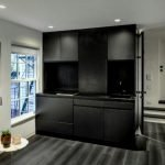 Black and White home attic concept to improve visual space volume by MKCA (4)