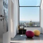 Contemporary interior model amplified by large windows for more natural light penetration (1)