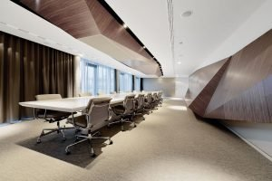 Fashionable modern office style with multiple design characters for different work zones (6)
