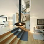 Modern contemporary house styles that combines European castle concept with cozy modern interior (3)