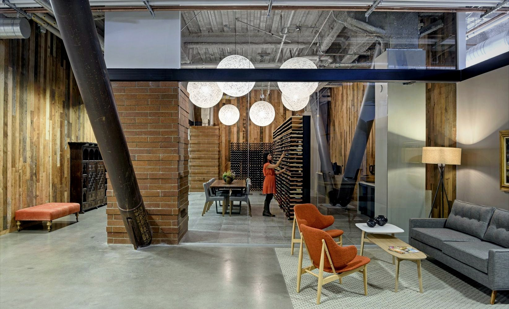 Special office design for Sunshine Magz with distinctive indoor characters designed in industrial and modern mix style (9)